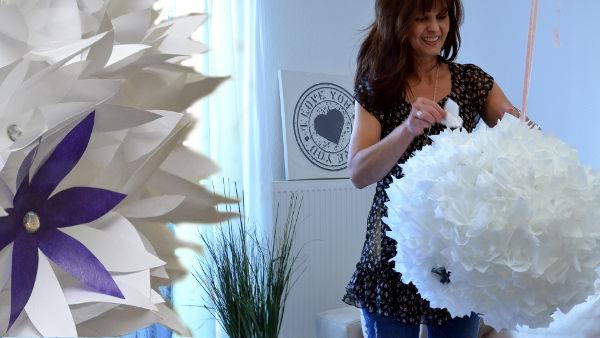 Ballonlampe selber machen Kreativ Ikea DIY